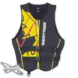 NEW Sea-Doo Men's Freedom Life Jacket Yellow #285864__10
