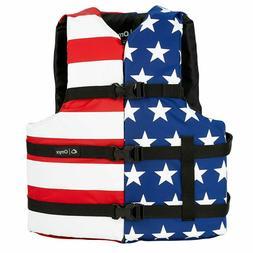 NEW Onyx Stars and Stripes USA American Flag Life Jacket Wak