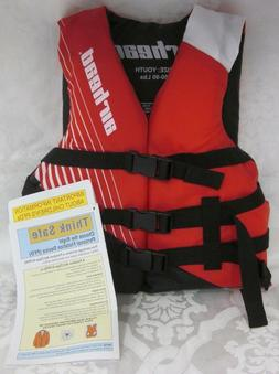 NEW UNISEX AIRHEAD YOUTH LIFE JACKET RED CHILD SIZE 50-90 LB