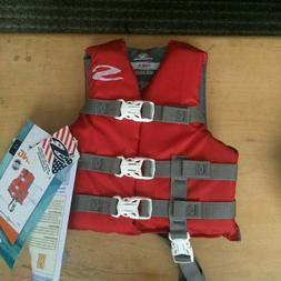 NWT Stearns Classic Series Child Life Vest - 30-50lbs - Red