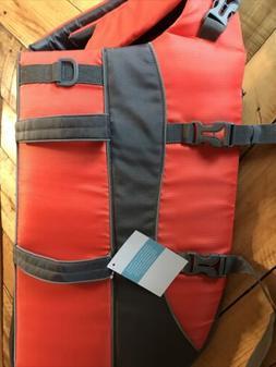 NWT Frisco Orange and Gray Dog Life Jacket X-Large 85-100 Lb