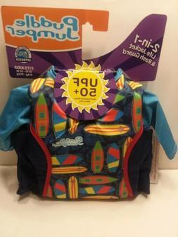 NWT Coleman Puddle Jumper Kids 2 in 1 Life Jacket & Rash Gua