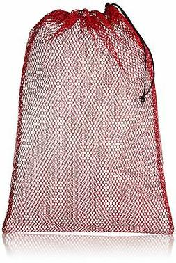 Equinox Nylon Mesh Stuff Sack 23 x 36-Inch, Red