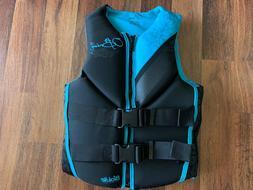 O Brien Focus Women s Neoprene Life Jacket Aqua Small