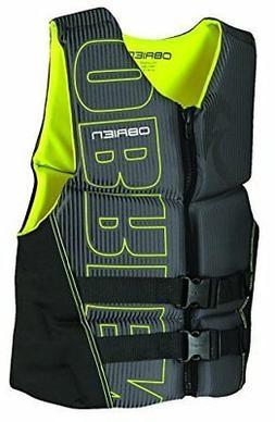 O'Brien Men's Flex V-Back Neoprene Life Vest, Yellow, 3X-Lar