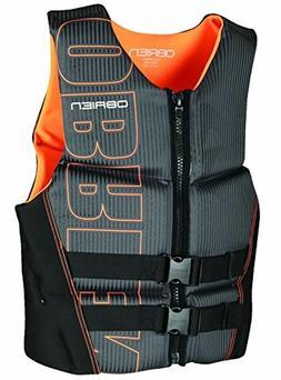 O'Brien Men's Flex V-Back Neoprene Boating Life Vest, Orange