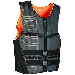O'Brien Watersports Men's Flex V-Back Life Jacket, Orange, S