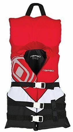 O'Brien Youth life jacket Buckle Nylon Vest Red/White/Black