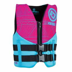 O'brien Youth Neoprene Life Jacket FREE SHIPPING PINK 50 90L