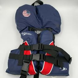 O'Neill Infant Size USCG Approved Life Jacket Blue Red
