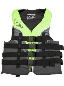 O'Neill Mens Superlite USCG Life Vest XL Lime/Graphite/Smoke