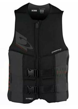O'Neill Wetsuits Men's Assault USCG Life Vest, Black/Graphit