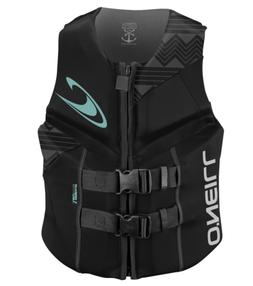 O'Neill Wetsuits Women's Reactor USCG Life Vest, Black/Black