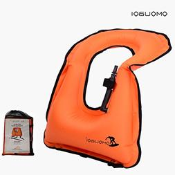 OMOUBOI Unisex Adult Portable Inflatable Canvas Life Jacket
