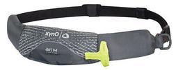 Onyx M-16 Manual Inflatable Belt Pack Life Jacket Paddle Boa