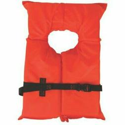 Orange Adult Life Jacket Coleman Stearns Type II US Coast Gu