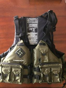 EXTRASPORT Osprey Life Jacket  PFD set up for fishing size X