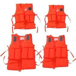 Outdoor Sport Adjustable Life Jacket Kayak Boating Foam Safe