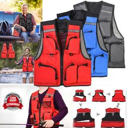 LEO Outdoor Sport Fishing Life Vest 5 Pocket Swimming Life J