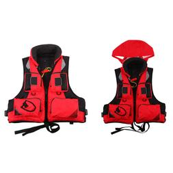 Outdoor Unisex Life Jacket Fishing Vest For Water Sports Sur