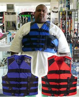 """Full Throttle Oversized Nylon Life Vest 4XL 7XL 60-70"""" Chest"""
