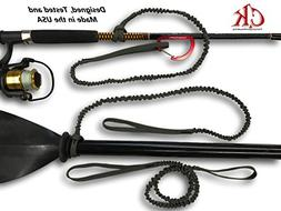 Campingandkayaking MADE IN THE USA! Paddle Leash with a 2 Ro