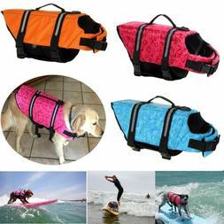 Pet Dog Harness Vest Safety Swimming Boating Life Jacket Ref