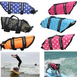 Pet Dog Saver Life Jacket Safety Life-vest Floatation Device