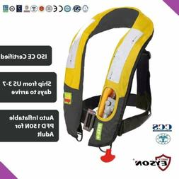 PFD Automatic Inflatable Life Jacket Vest 150N Eyson Neck Ty