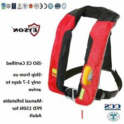 Eyson PFD Manual Inflatable Life Jacket Vest 150N for Adult