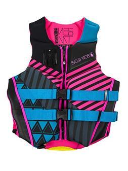 Body Glove 18224W-AQUPNK-XL Women's Phantom Uscga Life Vest,