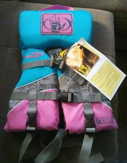 Body Glove Pink & Blue Print Infant Girl Less Than 30lbs PFD