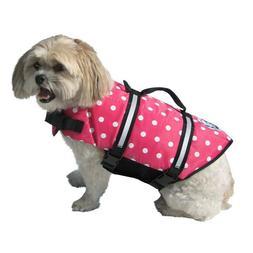 Pink Polka Dot Doggy Life Jacket