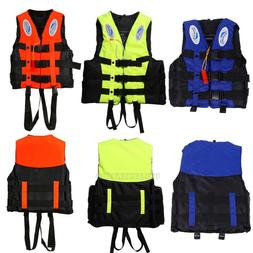 Polyester Adult Kid Life Jacket Universal Swimming Boating S