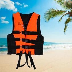 Polyester Adult Life Jacket Swimming Boating Ski Vest Foam +
