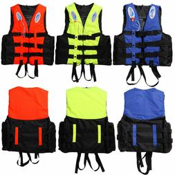 Polyester Adult Life Jacket Swimming Boating Ski Foam Vest +