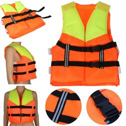 Polyester Adult Life Jacket Swimming Boating Ski Foam Vest