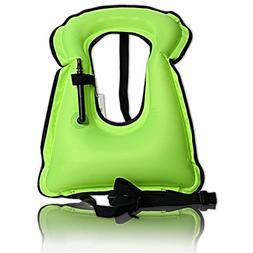 Isafish Portable Inflatable Life vest Safety Kayak Diving Li