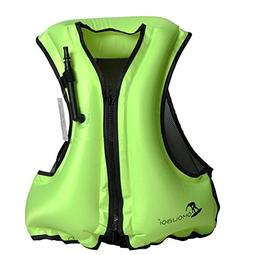Kingswell Adult Portable Inflatable Swim Vest Life Buoyancy