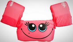 Stearns Puddle Jumper Basic Life Jacket, Pink Smile Swimming