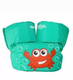 Stearns Puddle Jumper Kids Life Jacket green blue Crab certi