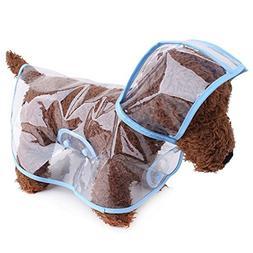 S-Lifeeling Fashion Puppy Pet Raincoat Transparent Waterproo