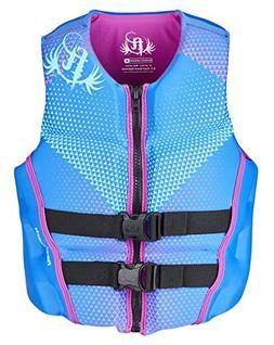 Full Throttle Women's Rapid Dry Flex-Back Life Jacket, Blue,