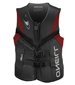 O'Neill   Men's Reactor USCG Life Vest,Graphite/Red/Black,X-