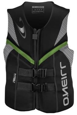 O'Neill Wetsuits Men's Reactor USCG Life Vest BLKLUNDGLO MED