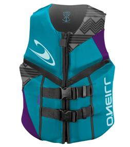 O'Neill  Women's Reactor USCG Life Vest, Turquoise/UV/Black,