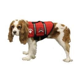 Red Neoprene Lifeguard Doggy Life Jacket