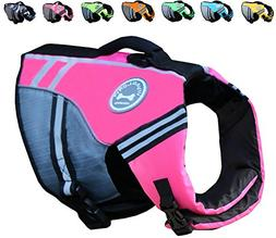 Vivaglory New Sports Style Ripstop Dog Life Jacket with Supe