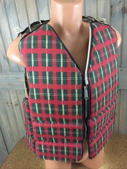 Stearns Sans-Souci Type III Vintage Plaid Zip Life Jacket Ve
