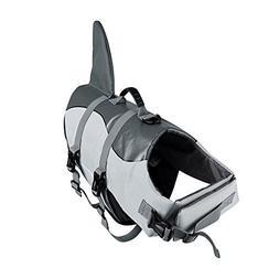 Ranphy Dog Lifevest Ripstop Swimsuit Shark Style Dog Life Ja